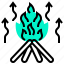 campfire, energy, fire, flame, radiation icon