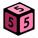 figure, five, number, numbers icon