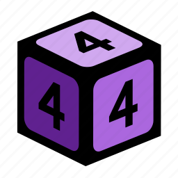 figure, four, number, numbers icon