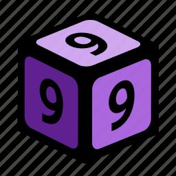 figure, nine, number, numbers, one icon