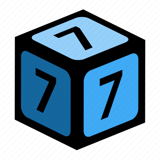 figure, number, numbers, seven icon