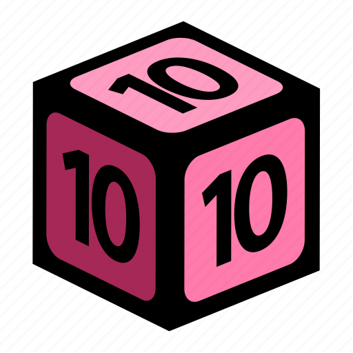 figure, number, numbers, ten icon
