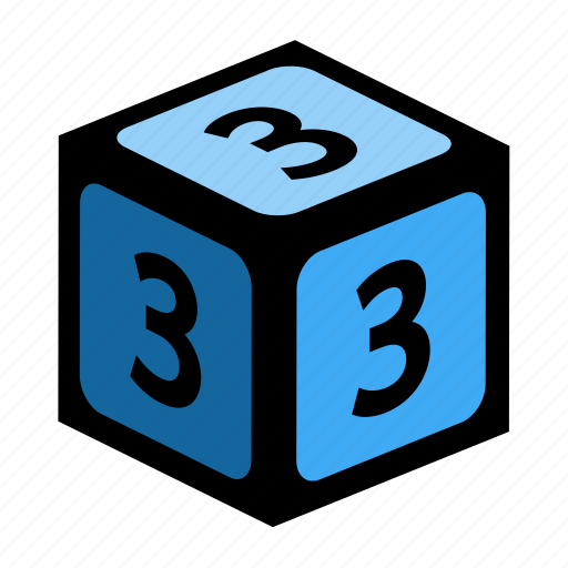 count, figure, number, numbers, three icon
