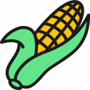 beans, color, corn, corncob, ear, food, vegetable icon
