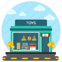 commercial market, kids shop, toy garage, toy shop, toy store