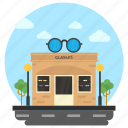 commercial building, optical store, optics shop, shop building, spectacle shop