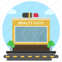beauty shop, business building, commercial market, cosmetics building, cosmetics business