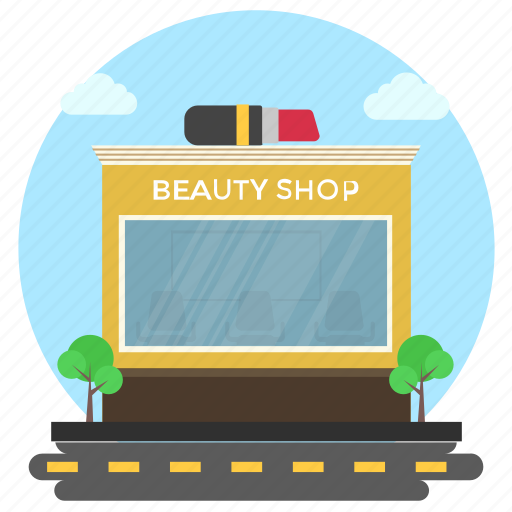 Beauty shop, business building, commercial market, cosmetics building, cosmetics business icon - Download on Iconfinder