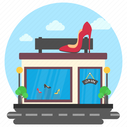 Business building, commercial building, footwear, garment shop, shoe shop icon - Download on Iconfinder