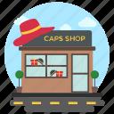 cap store, commercial building, garment shop, garment store, shop exterior icon