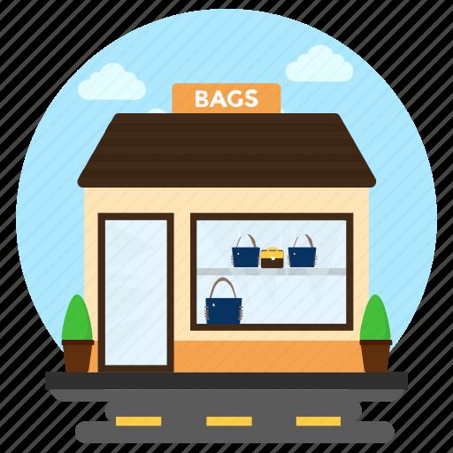 accessory shop, bag shop, bag store, luggage sale, purse shop icon