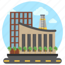 commercial area, factory, industry, industry outlet, site factory icon
