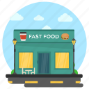 fast food, food shop, restaurant exterior, shop exterior, snack food icon