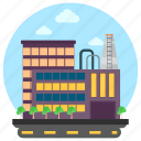 business center, commercial building, factory, industry, trade center