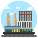 commercial area, factory, factory outlet, industry, site factory icon