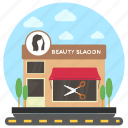 beauty parlour, beauty salon, beauty shop, salon building, salon shop