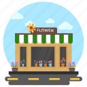 flower nursery, flower shop, flower store, shop building, shop exterior