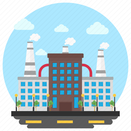 Business center, commercial building, factory, food industry, industry icon - Download on Iconfinder