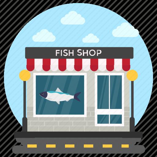 Butchers shop, fish shop, meat shop, seafood, shop building icon - Download on Iconfinder