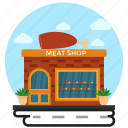 butcher's shop, marketplace, meat market, meat shop, shop exterior