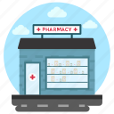 commercial building, commercial market, medical store, pharmaceutical company, pharmacy