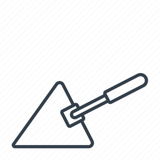 building, construction, equipment, industry, machinery, tool, trowel icon