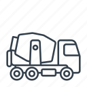building, concrete mixer, construction, industry, machinery, tool, truck icon
