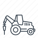 construction, drill, industry, machine, machinery, tool, tractor icon