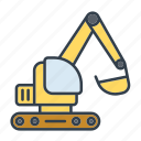 construction, digger, excavator, industry, machinery, tool, vehicle