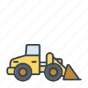 bulldozer, construction, industry, machinery, tool, vehicle icon
