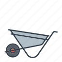 construction, industry, tool, wheelbarrow icon