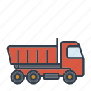 construction, dump truck, industry, machinery, tool, transport, vehicle
