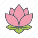 beauty, blossom, cosmetics, flower, lotus, relaxation, spa icon