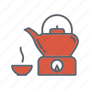 beauty, drink, relaxation, spa, tea, teapot, warmer icon