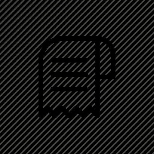 bill document paper receipt sheet slip icon