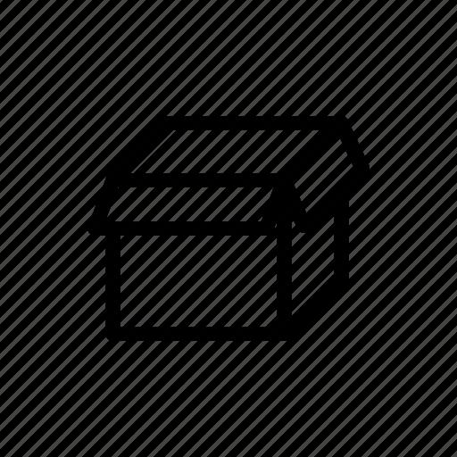 folder, open, storage, unbox, unpack, unwrap icon