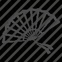 fan, chinese, asian, japanese, air, ribbon