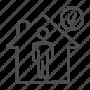person, house, quarantine, coronavirus, home, human, safety