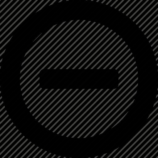 circle, delete, minimize, minus, remove icon