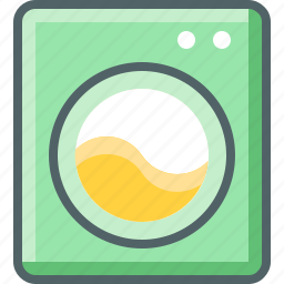 electric, laundry, machine, washing icon