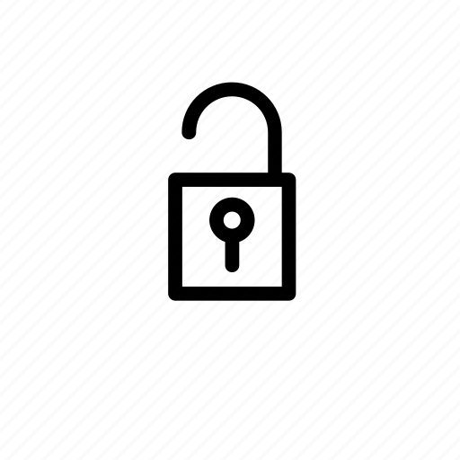 lock, open, padlock icon