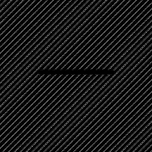 closed, collapsed, delete, detract, line, minus, remove icon