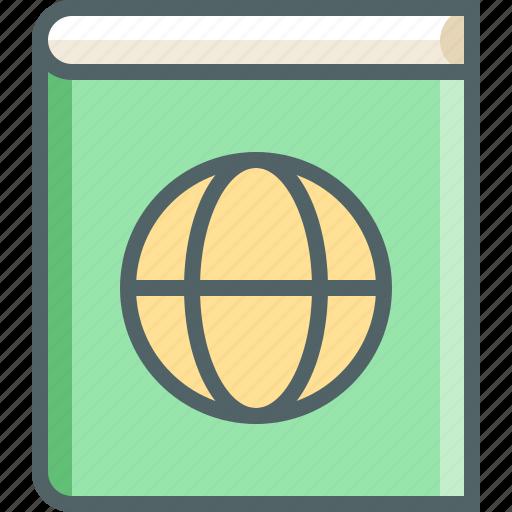 address, book, earth, global, globe, notebook, world icon
