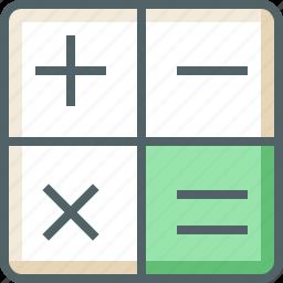 accounting, calculate, calculator, education, mathematics, science icon