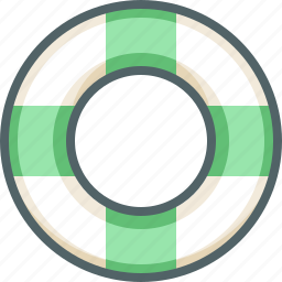 float, life, saver, sea, swimming, vacation, water icon