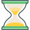 clock, hourglass, sandglass, time, timer icon