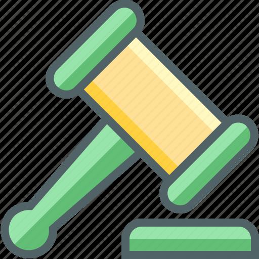 balance, hammer, judge, law, legal, statute icon