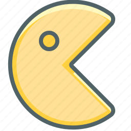 ear, fun, game, ghost, pacman, play icon