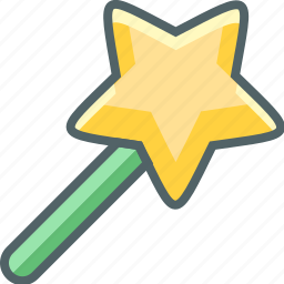 achievement, award, favourite, like, prize, star, stick icon