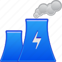 atomic, ecology, electric, environment, industry, power plant, production icon
